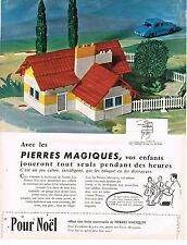 PUBLICITE 1963    PIERRES MAGIQUES  jeux jouets