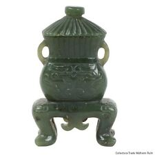 Cina 20. JH. COPERCHIO Vaso-a Chinese carved Jade vaso-chinois giada cinese