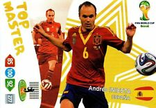 ADRENALYN WORLD CUP 2014 Brazil TOP MASTER INIESTA WORLD CUP PANINI