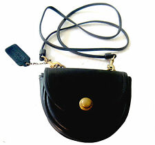VINTAGE COACH TACK CROSS-BODY BLACK LEATHER Shoulder Bag, HIP BELT PACK  ON SALE