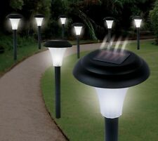 8 Solar Yard Garden Lights Accent Pathway Markers Side Walk Automatic Lighting