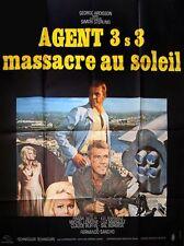 Affiche 120x160cm AGENT 3S3, MASSACRE AU SOLEIL (1968) George Ardisson BE #