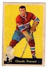 1X CLAUDE PROVOST 1960 61 Parkhurst #54 P Montreal Canadiens