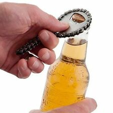 Bike Chain Stainless Steel Beer Bottle Opener, perfect gift for cyclist or biker