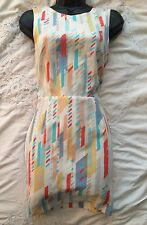 ARMANI EXCHANGE Lovely Abstract Print Designer Shift Dress Size 8 UK