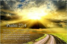 """PSALM 24:7 religious CHRISTIAN POSTER """"lift up your heads, ye gates"""" 24X36"""