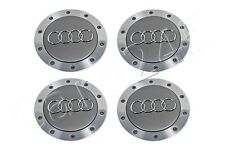 GENUINE Avus Silver Wheel Centre Hub Covers 4x SET AUDI A4 A6 A8 D3 TT 97-2010