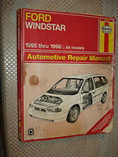 1995-1998 FORD WINDSTAR VAN SHOP MANUAL SERVICE BOOK 1996 1997 HAYNES