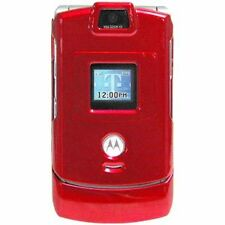 Amzer Red Protective Crystal Case With Belt Clip for Motorola V3m V3i RAZR V3