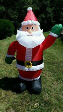 CHRISTMAS AIR BLOWN INFLATABLE 4' SANTA CLAUS LIGHTED OUTDOOR YARD DECOR