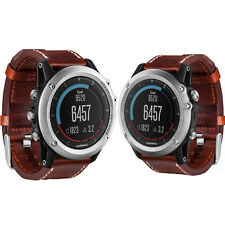 Garmin Fenix 3 Sapphire Multisport GPS Watch - Silver/Leather