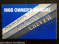 1968 Camaro SS GM Factory Original Owners Manual August 1967 Print Excellent