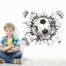 Sport Boy Soccer Ball Football Wall Sticker Decal Kids Room SCHOOL Club decor