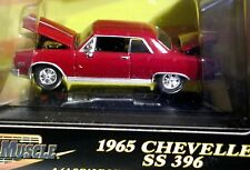 ERTL 65 1965 CHEVY CHEVROLET CHEVELLE SS 396 AMERICAN MUSCLE CAR W/DISPLAY CASE