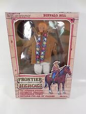 "SEALED FRONTIER HEROES BUFFALO BILL 12"" WESTERN ACTION FIGURE MIB 1993 IN TIME"