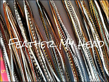 100 NATURAL LONG  WHITING GRIZZLY SADDLE FEATHER HAIR EXTENSIONS  DREAM CATCHER