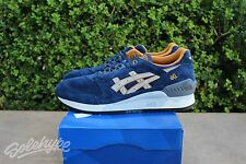 ASICS GEL RESPECTOR SZ 10 PREMIUM CASUAL PACK NAVY SAND H5X2L 5005