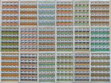 24 x JAPAN JNR Railway Stamp Sheets (1,200 Stamps) Train / Locomotive WHOLESALE