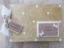 PERSONALISED MUMS MEMORIES WOODEN SCRAPBOOK/PHOTO BOOK /MEMORIES