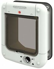CAT Mate Elite Pet Cat Flap SUPER selettiva microchip e l'ID disco Lettore UK