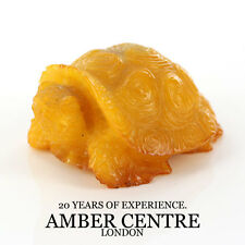 Genuine Antique Baltic Amber Carving Turtle – Car0064 RRP £350