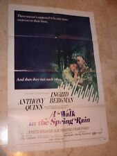 A Walk in the Spring Rain folded movie 1 sheet promo poster Ingrid Bergman