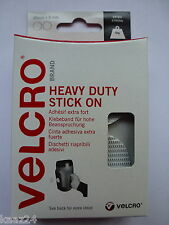 VELCRO® Heavy Duty Stick on Giant coins 45mm WHITE Hook & Loop 60249