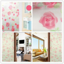 Frosted Window Film Privacy Door Glass Tint Self Adhesive Home Decorative Rose