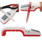 Professional Knife + Scissor Sharpener Knive Roller Blade & Stone Kitchen NEW