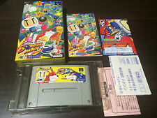 SUPER BOMBERMAN 5 Japan Super Famicom SNES BOX and Manual