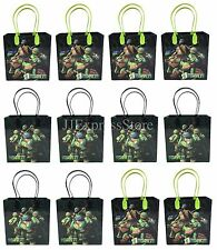 12x Teenage Mutant Ninja Turtles Birthday Party Favor Goody Bags Loot Bags Gift