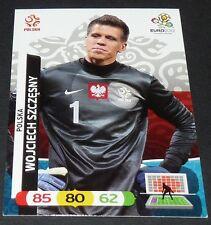 WOJCIECH SZCZESNY POLOGNE POLSKA FOOTBALL CARD PANINI UEFA EURO 2012