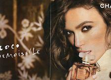 Publicité Advertising 2011  (2 PAGES)  Parfum CHANEL coco mademoiselle