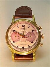 DESK CLOCK ROUND WRISTWATCH STYLE BRASS / LEATHER***TIMEWORKS INC.