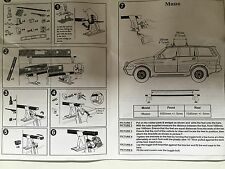Daewoo Musso roof rack bar set made by Thule