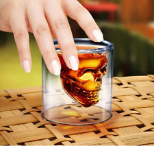 Crystal Skull Head Mug Creative Skull Vodka Wine glasses Double Wall Whisky Cups