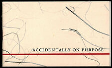 ACCIDENTALLY ON PURPOSE: POEM by ROBERT FROST (1960) PUBLISHER HOLIDAY PAMPHLET