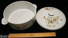 BUTTERFLY CASSEROLE COVERED DISH W/LID  ECSTASY PATTERN BY THE SHAFFORD COMPANY