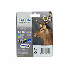 ORIGINALI EPSON T1306 C M Y PER Epson WorkForce WF-3520DWF WF-3010DW WF-7015