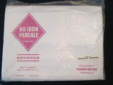 NOS! Vintage BURLINGTON INDUSTRIES: TWIN FLAT SHEET: no iron percale!