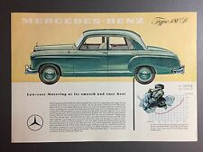 1959 Mercedes Benz Type 180 D Showroom Advertising Sales Sheet RARE!! Awesome