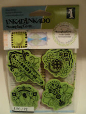 INKADINKADO STAMPING GEAR CLING STAMPS - BIRTHDAY FIESTA BNIP *LOOK*