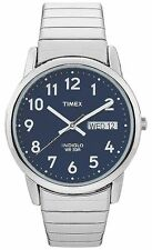 Timex T20031, Easy Reader, Men's, Silvertone Expansion, Indiglo, T200319J