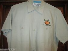 HOME GROCER.COM PEACH LOGO  SHORT SLEEVE UNIFORM WEARGUARD SHIRT LARGE