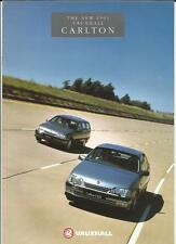 VAUXHALL CARLTON L, GL, CD, CDX AND GSi SALES ROCHURE 1991