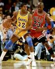 Michael Jordan and Magic Johnson 8x10 Photo 004