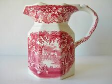 "ANTIQUE MASON'S VISTA PINK RED IRONSTONE 40 OUNCE JUG PITCHER 6 1/2"" LARGE NICE"