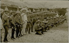 1917 Mexican Revolution - REAL PHOTO Armed Soldiers - Mexico