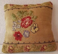 16 X 16''  French Decor Handwoven Needlepoint Tapestry Aubusson Rug Pillow Cover