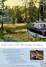 Ford Taunus 15 M Reklame von 1955 Wald Hund Boxer Spaziergang Werbung ad ßß